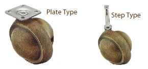 a plate type caster and a stem type caster
