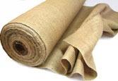 a roll of jute burlap
