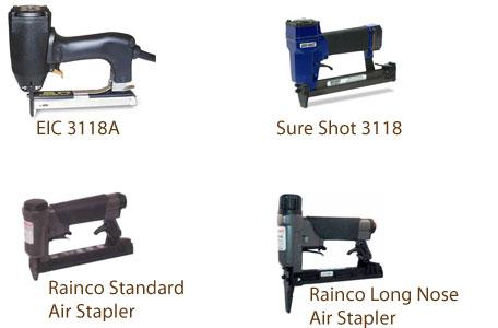 EIC 3118A Stapler, Sure Shot 3118 Stapler, Rainco Long Nose Air Stapler, Rainco Standard Air Stapler